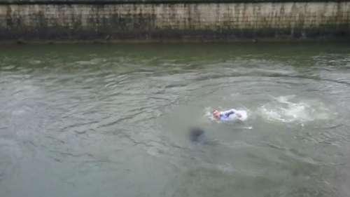 Sauvetage d'une femme tombée dans un fleuve à Quimper.