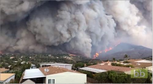 Les images incroyables des Feux de forêts à Malibu aux Etats-Unis