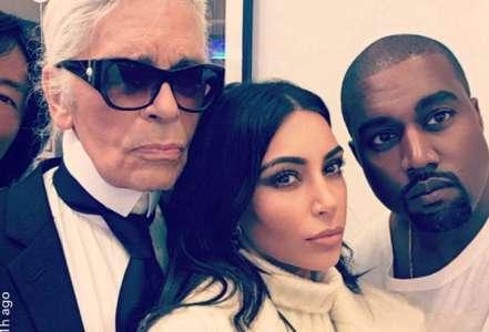 Kim Kardashian : À Paris avec Kanye West pour un nouveau projet avec Karl Lagerfeld !