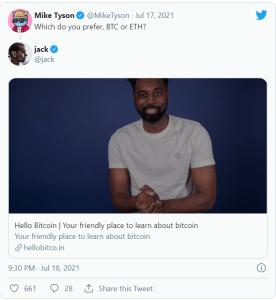 Mike Tyson ne sait pas choisir entre le Bitcoin et l'Ethereum et demande à ses fans!