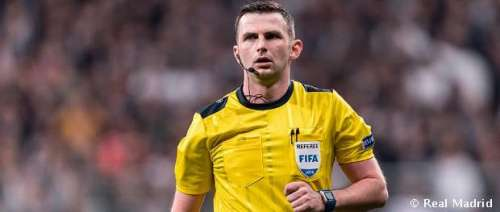 Michael Oliver today referee in match Real Madrit vs Juventus