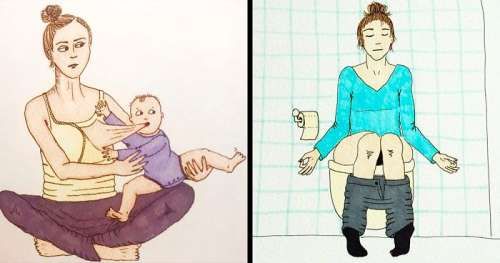 Une maman norvégienne montre sa vie dans des illustrations ironiques et les parents peuvent tout à fait comprendre