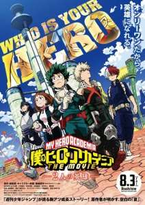 Date, visuel et synopsis pour le film My Hero Academia : THE MOVIE