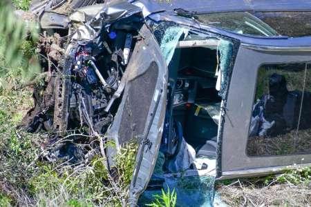 Tiger Woods victime d'un terrible accident de voiture... Découvrez les images choc