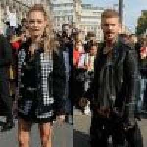 Fashion Week : Caroline Receveur, sublime en solo avec M. Pokora