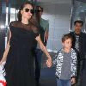 Angelina Jolie : Air grave et élégance au côté de son mini Brad Pitt