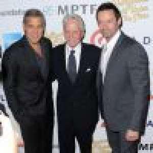 Kirk Douglas, bientôt 100 ans: Son fils Michael et George Clooney le célébrent