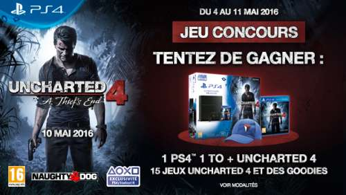 Concours VIP – Des lots Uncharted 4 à gagner !