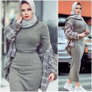 Transitional hijabi outfits from summer to fall
