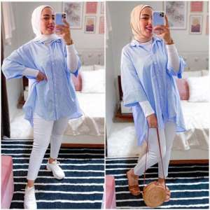 Casual hijab looks mix and match