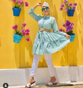 Bright comfy casual hijab