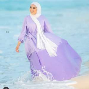 Beach vibes in summer hijab styles