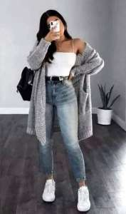 Fall mix and match selfie outfits