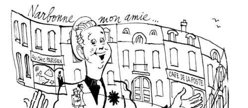 Trenet-la-joie, illustré par Cabu