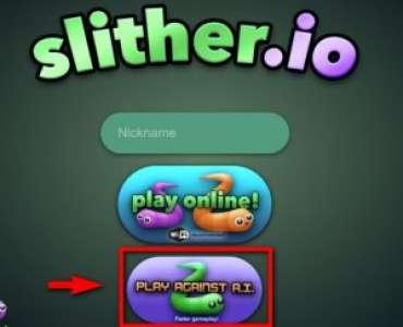 Play against A.I : le nouveau mode de Slither.io
