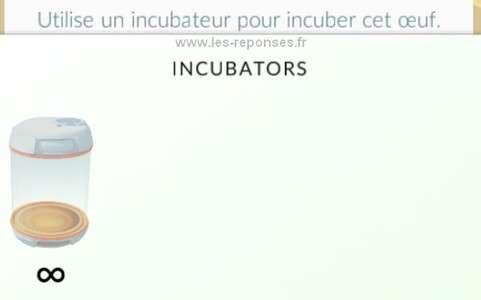 L'incubateur ne fonctionne pas dans Pokemon Go (oeuf)