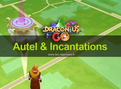 Autel et incantation Draconius Go (runes)