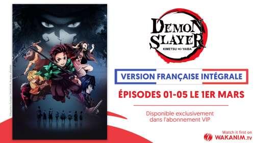 L'animé Demon Slayer arrive en version française sur Wakanim !