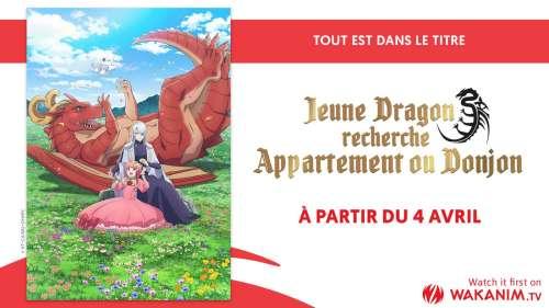 L'animé Jeune Dragon Recherche Appartement ou Donjon en simulcast sur Wakanim !