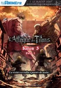L'Attaque des Titans saison 3 partie 2 arrive en blu-ray et DVD !