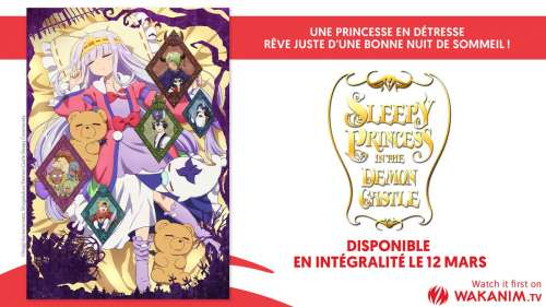 L'animé Sleepy Princess in the Demon Castle arrive aujourd'hui sur Wakanim !