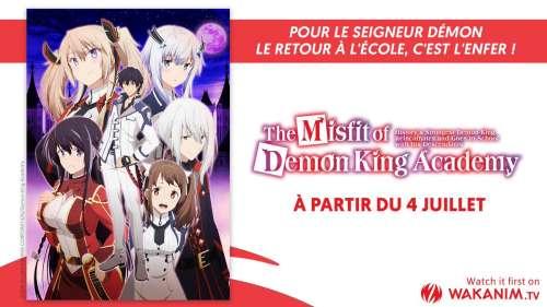 The Misfit of Demon King Academy en simulcast sur Wakanim !