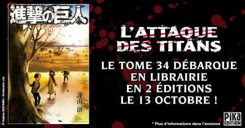 Une date de sortie pour le tome 34 de l'Attaque des titans !