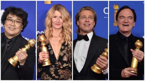 Golden Globes 2020 : Les grands gagnants en cinéma sont Quentin Tarantino, Sam Mendes, Bong Joon-Ho, Laura Dern, Brad Pitt, Joaquin Phoenix...