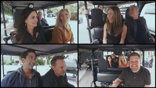 Les Friends s'éclatent au Carpool Karaoke de James Corden