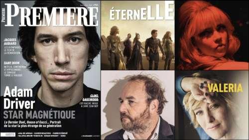 Sommaire de Première n°523 : Adam Driver, Clint Eastwood, Les Eternels, Valeria Bruni-Tedeschi, Dany Boon, Edgar Wright...