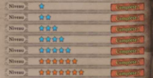 Missions secondaires de niveau 6 (★★★★★★)
