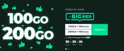 Bon plan : le forfait RED 200 Go disponible au tarif de 15 euros par mois