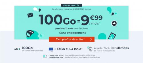 Bon plan : le forfait Cdiscount 100 Go à 9,99 euros par mois pendant une année