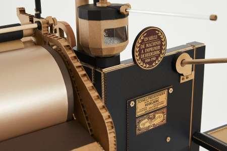 Une presse Heidelberg reproduite à l'identique, en papier