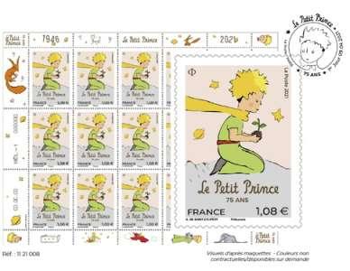 Pour les 75 ans du Petit Prince, des timbres à son effigie