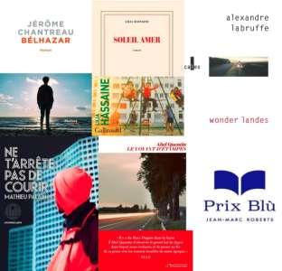 Les cinq romans de la sélection du prix Blù Jean-Marc Roberts 2021