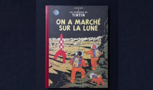 Enchères : une première édition de On a marché sur la Lune en vente
