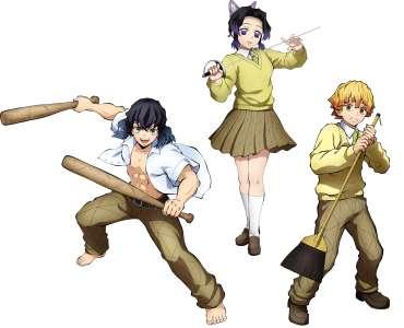 Le jeu Kimetsu no Yaiba: Hinokami, en Character Vidéo 10 (Kimetsu Gakuen 2)