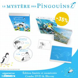 All the Anime lance une édition collector version longue combo Blu-Ray/DVD, limitée du Mystère des pingouins à -35% pendant 48h !