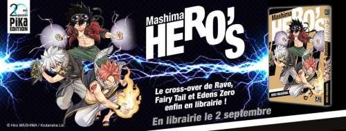 Pika annonce le manga HERO'S, cross-over de 3 séries d'Hiro Mashima