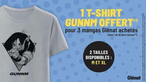 Opération T-Shirt Gunnm chez Glénat