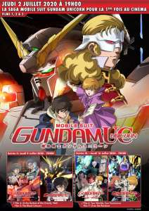 La saga Mobile Suit Gundam Unicorn en projection au Grand Rex et cinémas Kinepolis