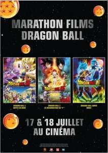 Un marathon des derniers films Dragon Ball au cinéma