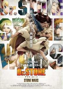 Dr. Stone : l'arc Stone Wars se dévoile en vidéo