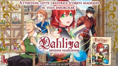 Le manga isekai Dahliya chez Komikku en septembre