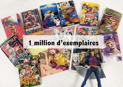 Delcourt / Tonkam  annonce 1 million d'exemplaires vendus de la saga Jojo's Bizarre Adventure
