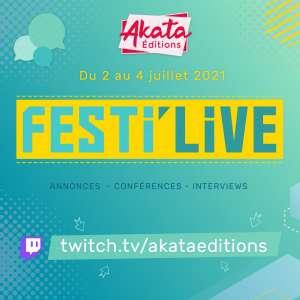 Akata annonce un mini festival sur Twitch du 2 au 4 juillet !