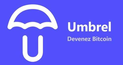 Petit tour d'horizon de l'interface d'Umbrel