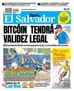 Le président Nayib Bukele annonce un projet de loi pour reconnaitre Bitcoin monnaie légale au Salvador