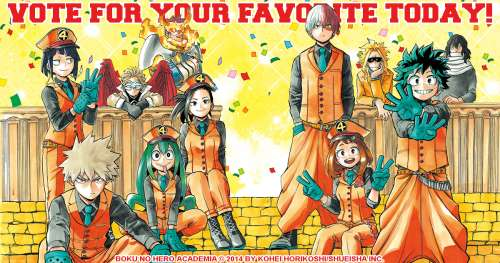 Top 30 des personnages de My Hero Academia
